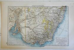Southern Australia New South Wales Victoria Sydney Melbourne 1898 Andrees Map