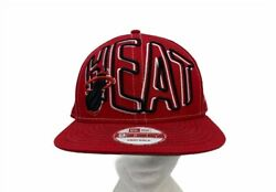Vintage Miami Heat New Era 9fifty Unisex Adult Cap Hat Red Snapback One Size New