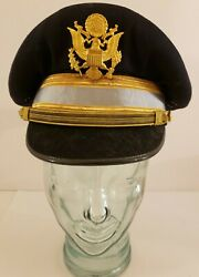 Vintage Wwii Us Army Air Corps Air Force Flight Officer Uniform Dress Cap 7 1/8