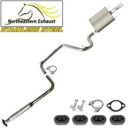Stainless Steel Exhaust Kit With Hangers And Bolts Fit 97-02 Grandprix 3.1l 3.8l