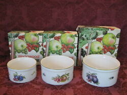 Wedgwood Cookware Quince China Souffle Dishes - Set Of Three 3 - Excellent
