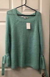 Project Naadam Knit Sweater Size Small Mint Green Nordstrom MSRP 39 $16.99