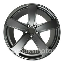 21 5 Spoke Classical Style Wheels Rims Fits For Porsche Macan S Gray Full