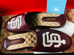 New In Box Womens Mlb Sf Giants Slippers/loafers Leather Shoes Ltd Edition