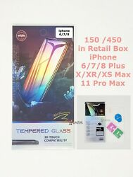 150/450 Wholesale Lot Tempered Glass For Iphone 11 Pro Max 6/7/8 Xr X Xs Plus
