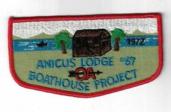 Oa 67 Anicus 1972 Boathouse Project F1 Flap Red Bdr. East Boroughs Pa [ny-1835]