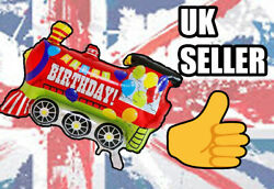Genuine Uk Seller Train Childrenand039s Birthday Party Balloon Foil Home Fill Helium