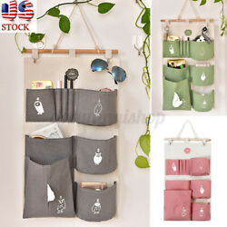 Home Hanging Storage Bag Organizer Container Car Bathroom Door Pocket US