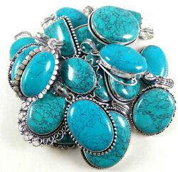 Turquoise Gemstone Pendant 925 Sterling Silver Plated Jewellery P 106