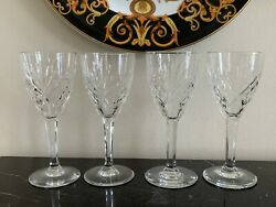St Louis Crystal France Chantilly Clear Sherry Glass Set Of 4