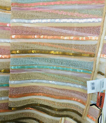 New With Tags Missoni Womens Metallic Scarf/wrap Shimmer Gold Multicolor