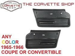 C2 Corvette Door Panel Pair wTrim 1965-1966 Coupe OR Convertible ANY COLOR