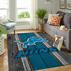 RUGS FOR LIVING ROOM -Detroit Lions NFL Team Logo Camo Style Nice Gift Home Deco
