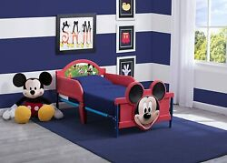 Toddler Bed Mickey Mouse Kids Safety Rails Bedroom Red Blue Childrens Boys Girls