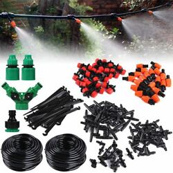 100ft 50ft Auto Drip Irrigation System Kit Timer Micro Sprinkler Garden Watering