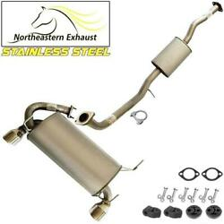 Stainless Steel Exhaust System Kit With Hangers And Bolts Fit 2003-07 G35 Coupe