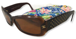 CHANEL Sunglasses 5099 538 73 Authentic 56 15 135 Brown Quilted RX EUC $71.99