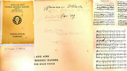 Maureen Oand039hara Twice Signed Personally Owned Used + Notated 1905 Song Book