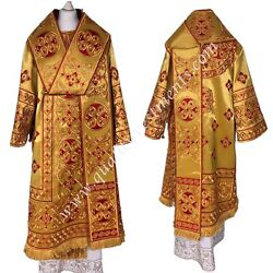 Gold Bishopand039s Vestments Embroidered Lightweight Burgundy Embroidery To Order