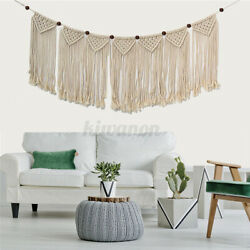 Macrame Woven Wall Hanging Tapestry Handmade Cotton Bohemian Wall Art Home z