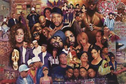 Canvas Wrap Of Rare 80s Rap Hip Hop Rappers Music Icons 18x12 Giclee Edition