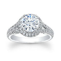 1.10 Ct Real Diamond Engagement Rings 14k Solid White Gold Womenand039s Band Size J O