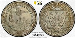 1931-a Germany Weimar Republic 3 Mark Silver Coin Magdeburg Pcgs Unc-details