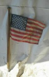 1974 Carver 25and039 Boat Omc 225 Gm 307 5.0l Flag W 30 Wood Pole