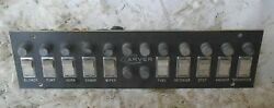 1974 Carver 25and039 Boat Omc 225 Gm 307 5.0l Switch Fuse Panel