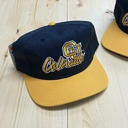 Vintage 80s/90s Colorado Buffalos Snapback Hat By The Game Nwt Deadstock