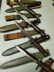 Italian Army M1 Carbine Bayonet With Scabbard Sold As Is.