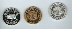 1984 Presque Isle Maine Fire Dept. 100 Years .999 Silver-bronze-pewter In Holder