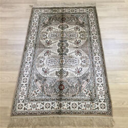 Yilong 3and039x5and039 Handknotted Silk Carpet Home Interior Kid Friendly Area Rug L012b