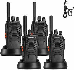 4pack Baofeng Bf-88st Two-way Radio Frs License-free Walkie Talkie For Business