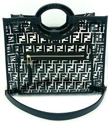 Womens Designer Fendi Runaway shopper bag - Black $1,898.70