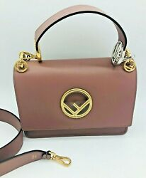 Womens Designer FENDI Kan I Logo Shoulder Bag - English Rose $1,951.08