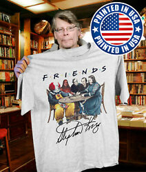 Stephen King Horror Characters Friends Men's Regular T-Shirt Halloween S-3XL     $13.99