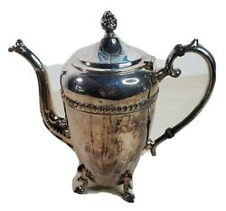 Crosby Silver Plated Coffee Tea Pot Only Serving Hot Drinks Shabby Victorian