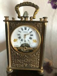 French Vintage Baylor Carriage Clock, Hebdomas Movement