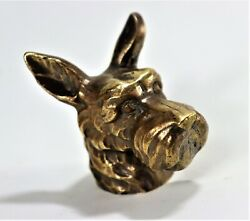 Antique Figurines Of Bronze Dolls With Dog Heads