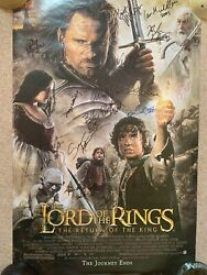 Lord Of The Rings - The Return Of The King Signed Poster 21 Members Cast - Coa