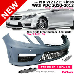 Amg E63 Style Front Bumper Kit For Benz 10-13 E Class W212 With Parking Sensor