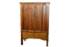A Tall Late 19th Century Chinese Elmwood Cabinet Or Armoire
