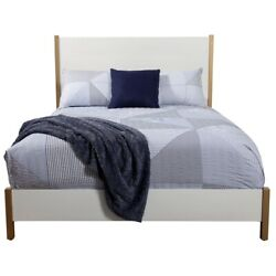 Alpine Furniture Madelyn California King Wood Panel Bed In White
