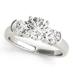 1.10 Ct Round Cut Real Diamond Womenand039s Engagement 950 Platinum Ring Size 6 7 8.5