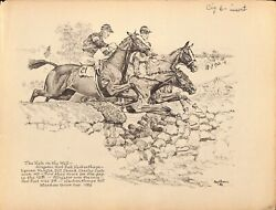 The Hole In The Wall At The 1929 Meadow Brook Cup By Paul Desmond Brown
