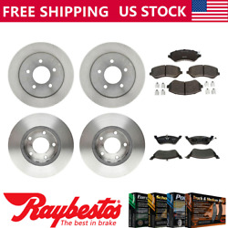 For 2005-2007 Chrysler Town And Country Front Rear Brake Rotors Ceramic Brake Pads