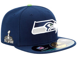 All Sizes Rare New Era Seattle Seahawks Superbowl Xlviii 48 59fifty Fitted Hat