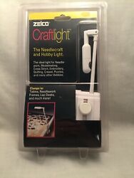 Clamp On Craftlight Needlepoint Itty Bitty Lamp Optical Bulb Battery Pack Zelco