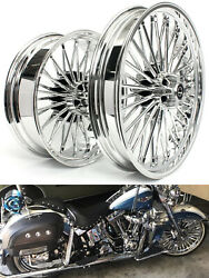 21 Front And 18 Rear Cast Wheels Single Disc Fat King Spoke Softail Touring Dyna
